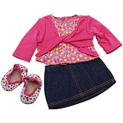 Springfield Collection Skirt/ Top Blue Denim Set for Dolls