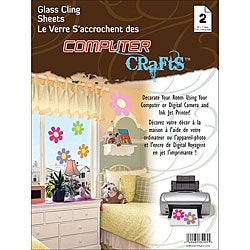 Janlynn Glass Cling 8.5x11 Sheets (Pack of 2)