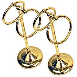 Moen Brighton Brass Pedestal Double Towel Rings (Set of 2)