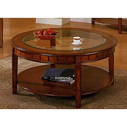 Cherry Finish Round Coffee Table 12307581 Shopping Great Deals On Coffee