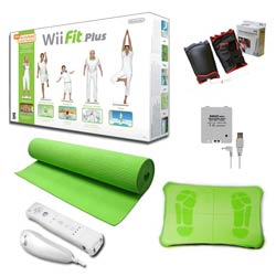 "Nintendo Wii Fit Plus ""Super"" Bundle - Green"
