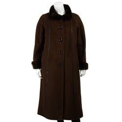 Gallery Women's Plus Size Full-length Coat