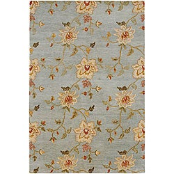 Hand-knotted Blue Wool Divchi Rug (8' x 10')