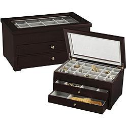 Espresso Wood Jewelry Ring Box