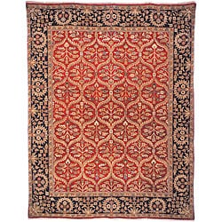 Heirloom Hand-Knotted Treasures Kerman Wool Area Rug (6' x 9')