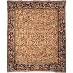 Heirloom Hand-knotted Treasures Kerman Wool Rug (5' x 7'6)