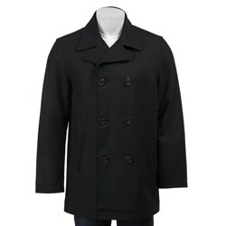 Dockers Men's Wool Melton Double Breasted Peacoat