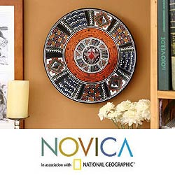 Cosmic Hummingbird' Cuzco Plate , Handmade in Peru