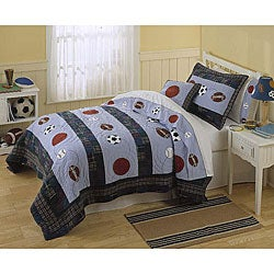 Sports Action 3-piece Quilt Set