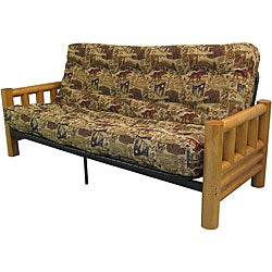 Yosemite Queen Rustic Frame/ Westwind Splendor Mattress Futon Set
