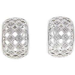 Sterling Silver 1/2ct TDW Diamond Hoop Earrings (J-K, I3)