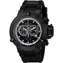 Invicta Men's Subaqua 5508 Black Rubber Swiss Chronograph Watch