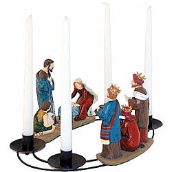 Nativity Oval Candleholder