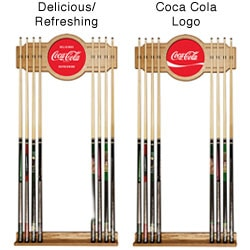 Trademark Wooden Billiard Cue Stick Wall Rack with Cola-Cola Logo