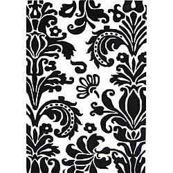 Alliyah Handmade Black New Zealand Blend Wool Rug (4 x 6)