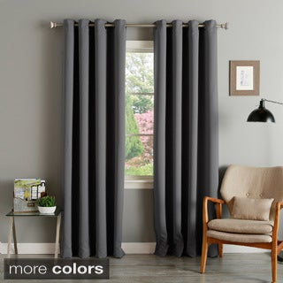 Grommet Top Thermal Insulated 84-inch Blackout Curtain Panel Pair