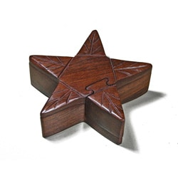 Wooden Fair Trade Star Puzzle Box (India)