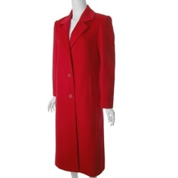 Jonathan Michael by Adi Women's Full-length Red Wool Coat