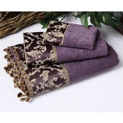 Avanti Damask Fringe Purple 3-piece Towel Set