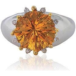Michael Valitutti Silver/ Palladium/ 18k Vermeil Citrine Ring