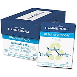 Hammermill Letter Great White Recycled Copy Paper (Case of 5,000 Sheets)