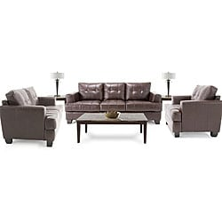 Living Room Packages on Piece Living Room Package  Leather Sofa  Leather Loveseat And