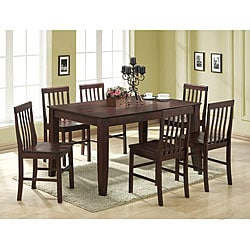 Brown 7-piece Wood Dining Set