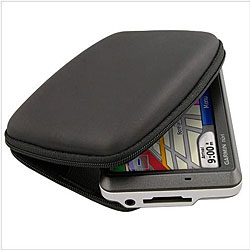 Hard Black Eva Protective Case for Garmin Nuvi 255W GPS Devices