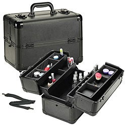 Professional Makeup Case on Seya All Black Pro Cosmetic Case   Overstock Com