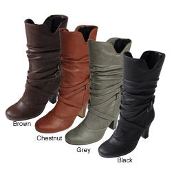 Glaze by Adi Buckle Accent Slouchy Boots