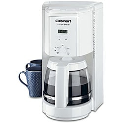 Cuisinart DCC-1000FR Programmable Filter Brew 12-cup White Coffee Maker (Refurbished)
