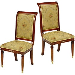 Safavieh English Light Gold/ Brown Side Chairs (Set of 2)