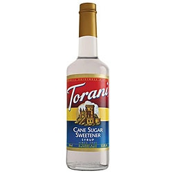Torani Pet Sugar Cane Sweetener Syrup 750ML (Pack of 6)
