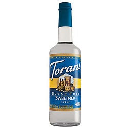 Torani Pet Sugar Free Sweetener Syrup 750ML (Pack of 6)