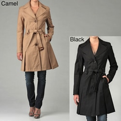 DKNY Women's Belted Rain/ Trench Coat