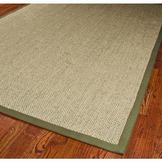 Hand-woven Resorts Natural/ Green Sisal Rug (3' x 5')