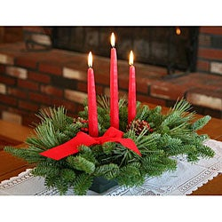 Classic 3-candle Fresh-cut Maine Balsam Centerpiece