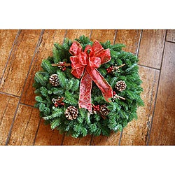 Maine Balsam Cinnamon Stick Fresh-cut 24-inch Wreath