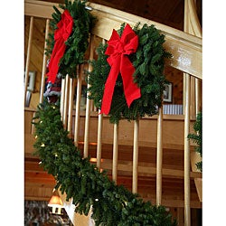 Pre-lit 18-foot Fresh-cut Maine Balsam Garland
