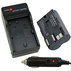 Camera Battery and Charger for Canon Rebel EOS/20D/30D/40D/D60/G5