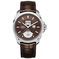Tag Heuer Men's Grand Carrera Grand Date GMT Brown Strap Watch