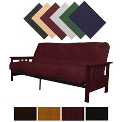 Providence Full Mission-style Frame/Twill Splendor Mattress Futon Set