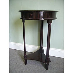 Mahogany Wood Round Side Table (Indonesia)