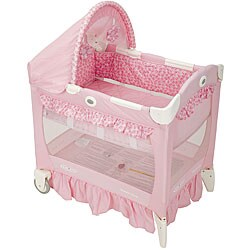 Graco Travel Lite Portable Crib With Bassinet In Sally