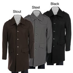 Cloth Logic Men's Long Wool Blend Coat