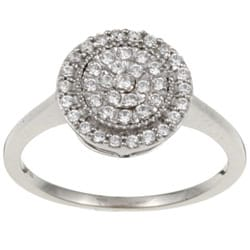 10k White Gold 1/4ct TDW Diamond Cluster Ring (I-J, I1)