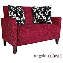 angelo:HOME Sutton Bixby Cherry Red Loveseat