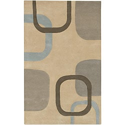 Hand-tufted Current New Zealand Wool Rug (8' x 11')