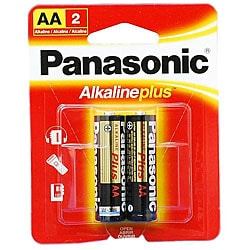 Panasonic AlkalinePlus AA Battery (Case of 96)