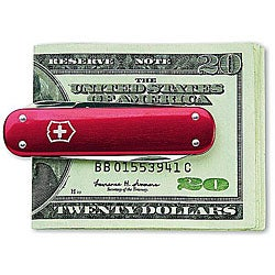 Victorinox Swiss Army 5-tool Red Money Clip Pocket Knife